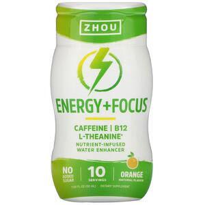 Zhou Nutrition, Energy + Focus, Nutrient-Infused Water Enhancer, Orange, 1.69 fl oz (50 ml) отзывы