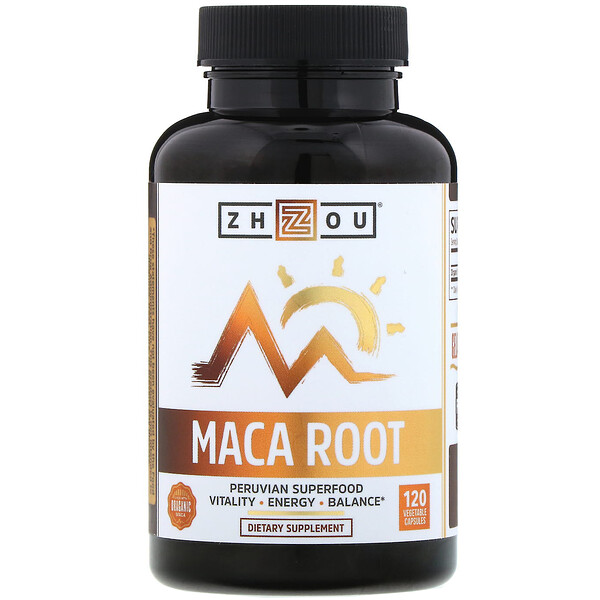 Organic Maca Root, 120 Vegetable Capsules