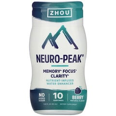 Zhou Nutrition, Neuro-Peak,營養強化水,漿果味,1.69 盎司(50 毫升)