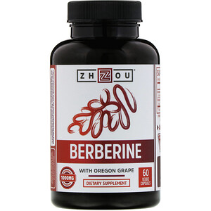 Zhou Nutrition, Berberine with Oregon Grape, 1,000 mg, 60 Veggie Capsules