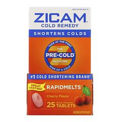 Zicam, 著涼藥,RapidMelts,櫻桃,25 片即溶片