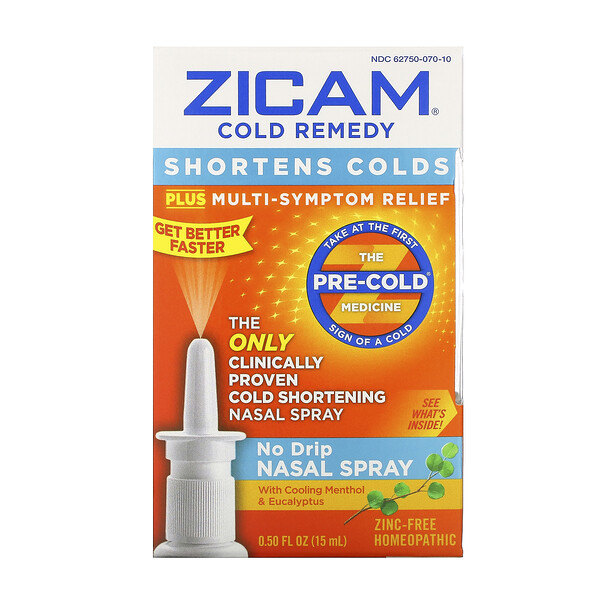 Zicam, Cold Remedy, No Drip Nasal Spray, 0.50 fl oz (15 ml)