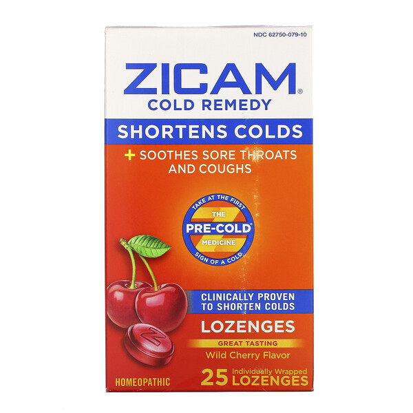 Cold Remedy, Lozenges, Wild Cherry , 25 Individually Wrapped Lozenges