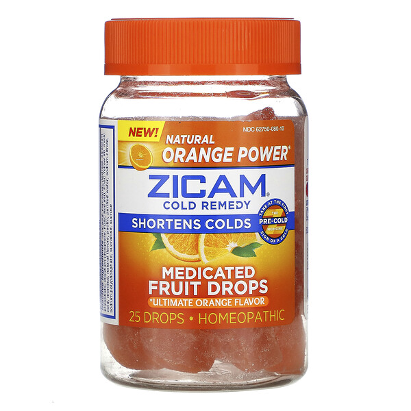 Cold Remedy, Medicated Fruit Drop, Ultimate Orange, 25 Drops