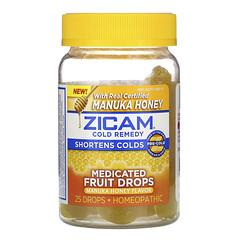 Zicam, 受涼舒緩,醫級使用水果滴劑,麥盧卡蜂蜜味,25 滴