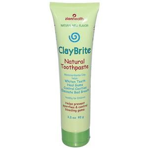 Зион Хэлс, ClayBrite, Natural Toothpaste, Natural Mint Flavor, 3.2 oz (92 g) отзывы покупателей
