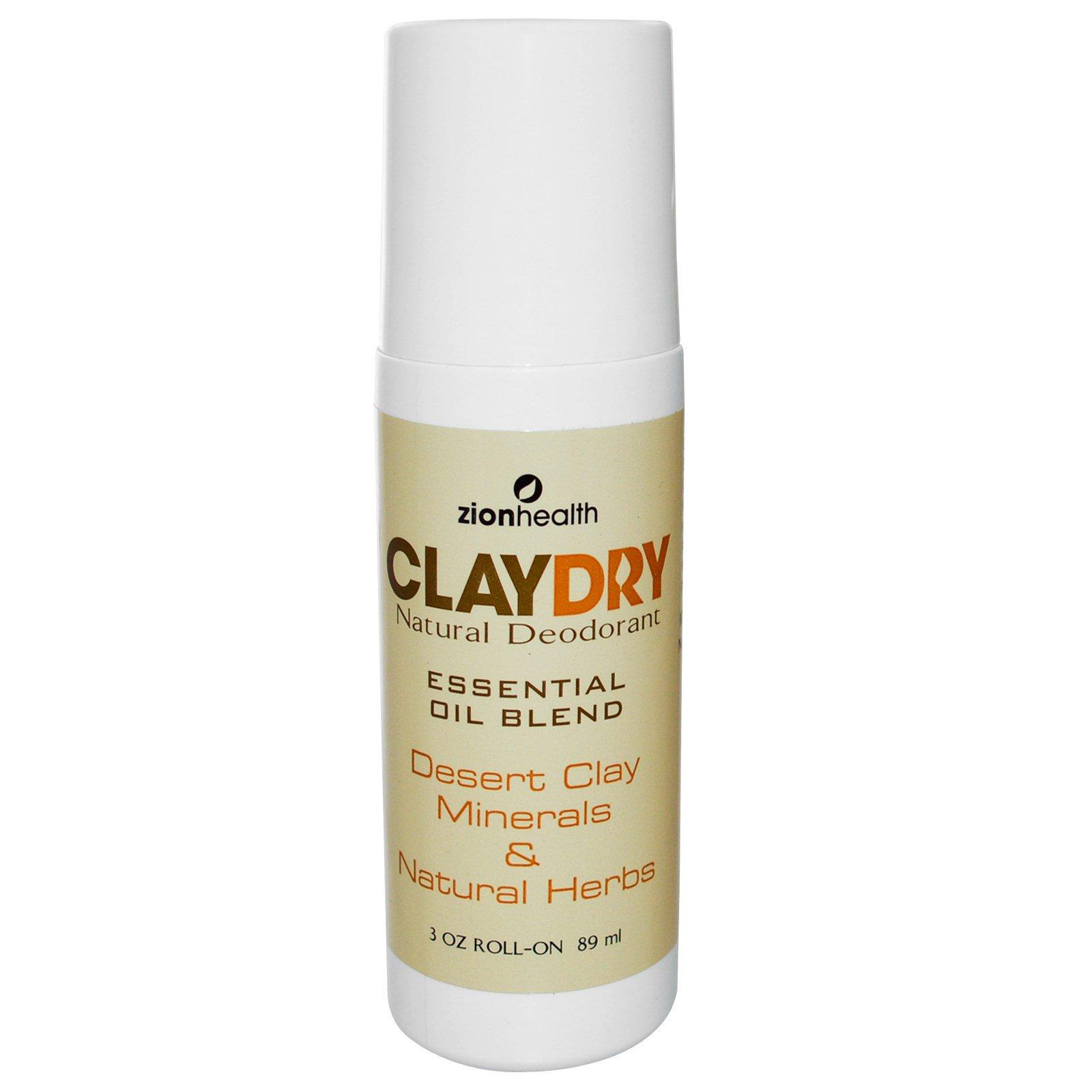 Zion Health, Шариковый сухой дезодорант с натуральной глиной, 89 мл (3 унции)