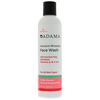 Zion Health, Adama, Ancient Minerals Face Wash, 8 fl oz (240 ml)