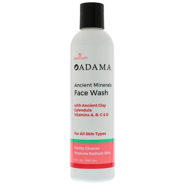 Zion Health, Adama, Ancient Minerals Face Wash, 8 fl oz (240 ml) (Discontinued Item)
