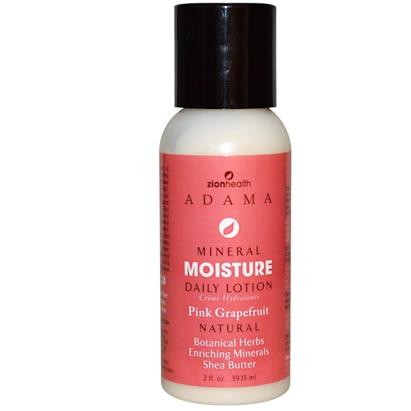Zion Health, Mineral Moisture, Daily Lotion, Pink Grapefruit, 2 fl oz (59.15 ml) (Discontinued Item)
