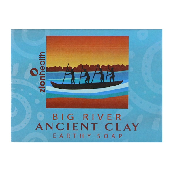 Zion Health, Ancient Clay Earthy Soap, Big River, 10.5 oz (300 g) (Discontinued Item)