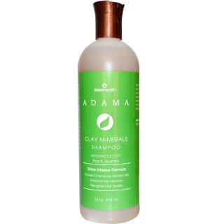 Zion Health, Adama, Clay Minerals Shampoo, Peach Jasmine, 16 oz (473 ml)