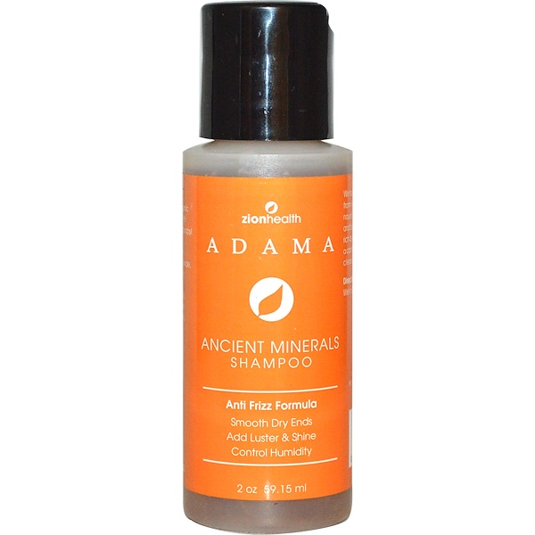 Zion Health, Adama, Ancient Minerals Shampoo, Anti-Frizz Formula, 2 oz (59.15 ml) (Discontinued Item)
