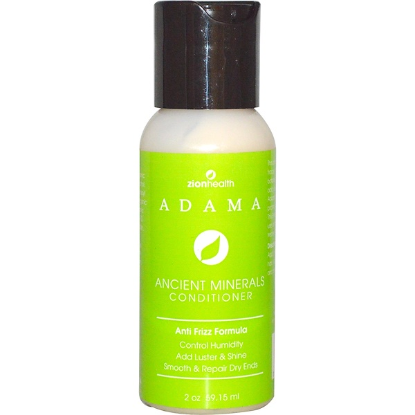 Zion Health, Adama, Ancient Minerals Conditioner, Anti-Frizz Formula, 2 oz (59.15 ml) (Discontinued Item)