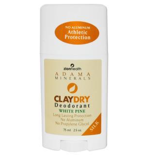 Zion Health, Clay Dry Deodorant, White Pine, Bold, 2.5 oz (70 g)