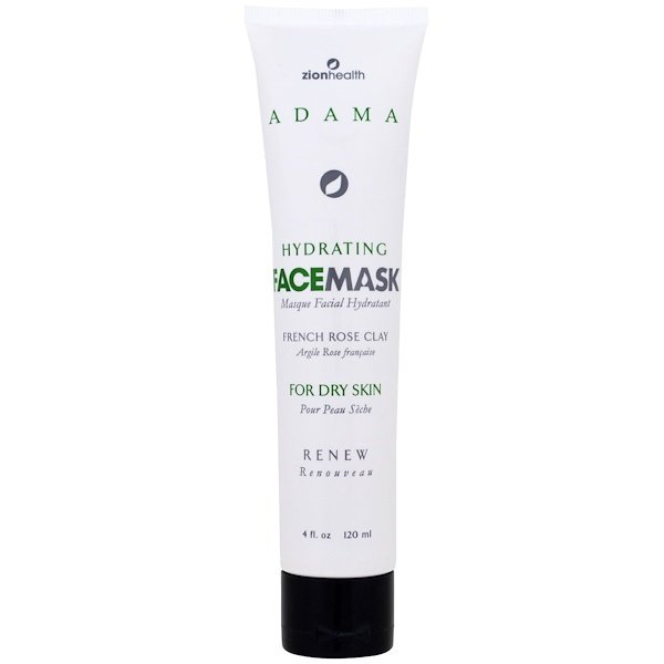 Zion Health, Adama, Hydrating Face Mask, French Rose Clay, 4 fl oz (120 ml) (Discontinued Item)