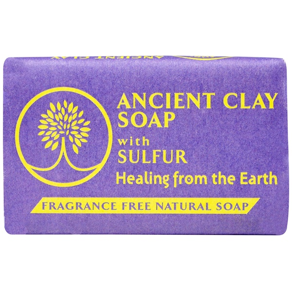 Zion Health, Ancient Clay Soap With Sulfur, Fragrance Free, 6 oz (170 g) (Discontinued Item)