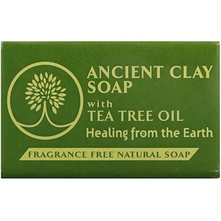 Zion Health, Ancient Clay Natural Soap with Tea Tree Oil, Fragrance Free, 6 oz (170 g)