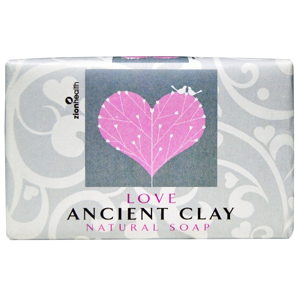 Zion Health, Ancient Clay Natural Soap, Love, 6 oz (170 g) (Discontinued Item)