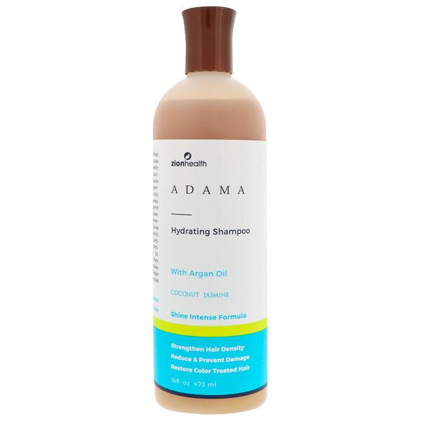 Zion Health, Adama,保濕洗髮水,椰子茉莉,16液體盎司(473毫升)
