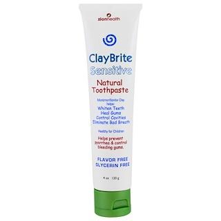 Zion Health, ClayBrite, Sensitive Natural Toothpaste, 4 oz (120 g)