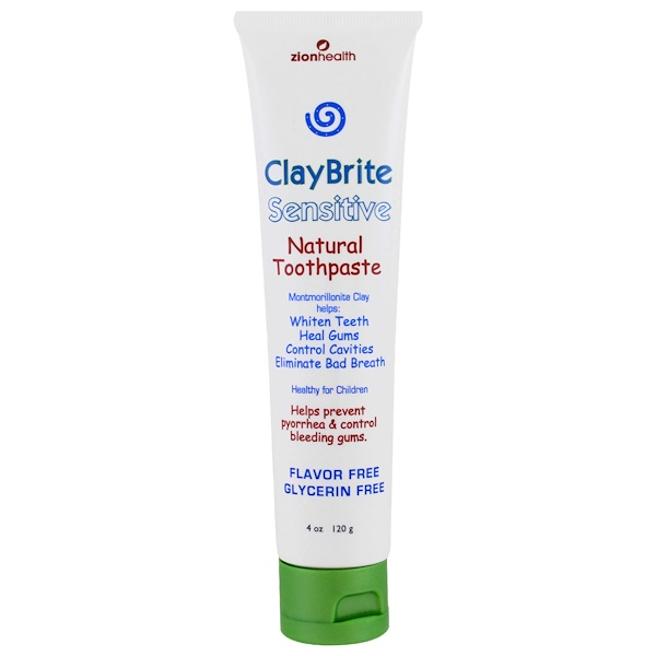 Zion Health, ClayBrite, Sensitive Natural Toothpaste, 4 oz (120 g) (Discontinued Item)