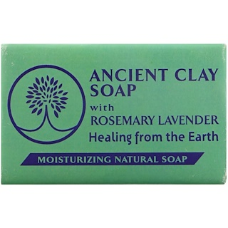 Zion Health, Ancient Clay Soap, Moisturizing Natural Soap, Rosemary Lavender, 6 oz (170 g)