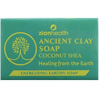 Zion Health, Ancient Clay Soap, Energizing Earthy Soap, Coconut Shea, 6 oz (170 g)