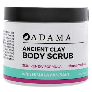 Zion Health, アダマ、古代のクレイAdama, Ancient Clay, Body Scrub, Moroccan Pear, 4 oz (113 g)