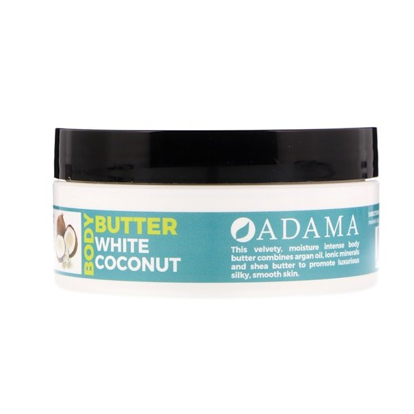 Zion Health, Adama, Body Butter with Argan Oil, White Coconut, 4 oz (118 g)
