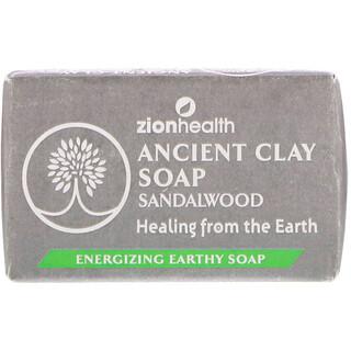 Zion Health, アンシェントクレイソープ、ビャクダン、170g(6オンス)