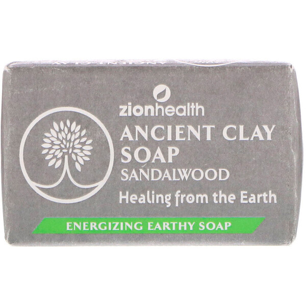 Ancient Clay Soap, Sandalwood, 6 oz (170 g)
