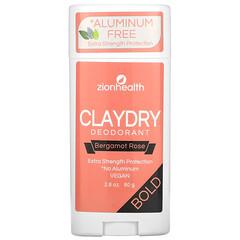 Zion Health, ClayDry 淨味劑,Bold,佛手柑玫瑰味,2.8 盎司(80 克)