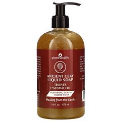 Zion Health, 古代粘土液體皂,Thieves 精油,16 盎司(473 毫升)。
