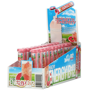 Zipfizz, Healthy Sports Energy Mix with Vitamin B12, Pink Grapefruit, 20 Tubes, 0.39 oz (11 g) Each
