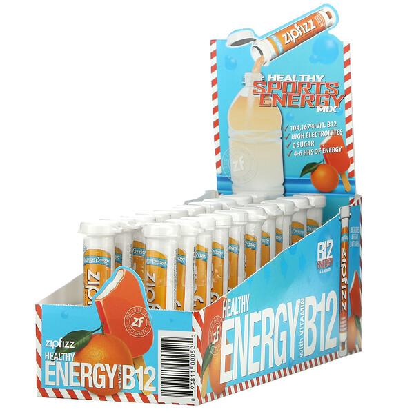 Healthy Energy With Vitamin B12, Orange Cream, 20 Tubes, 11 g Each