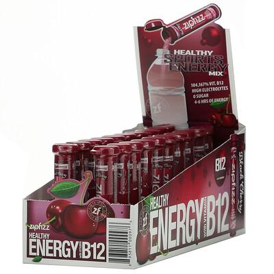 Zipfizz Healthy Energy Mix With Vitamin B12, Black Cherry, 20 Tubes, 0.39 oz (11 g) Each