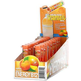 Zipfizz, Healthy Sports Energy Mix with Vitamin B12, Peach Mango, 20 Tubes, 0.39 oz (11 g) Each