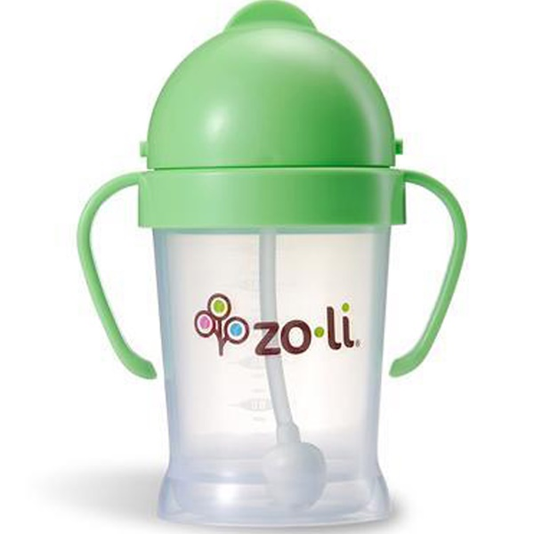 Zoli, Bot, Straw Sippy Cup, Green, 6 oz (Discontinued Item)