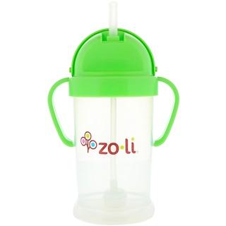 Zoli, Bot XL, Straw Sippy Cup, Green, 9 oz