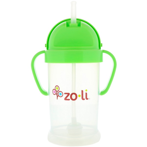 Zoli, Bot XL, Straw Sippy Cup, Green, 9 oz