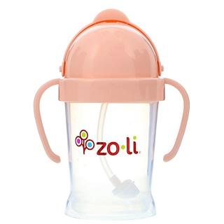 Zoli, Bot, Straw Sippy Cup, Blush, 6 oz