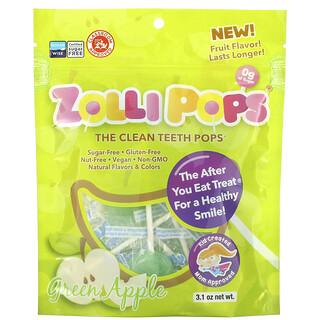Zollipops, The Clean Teeth Pops, Green Apple, 3.1 oz