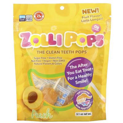 Купить Zollipops The Clean Teeth Pops, Peach, 3.1 oz