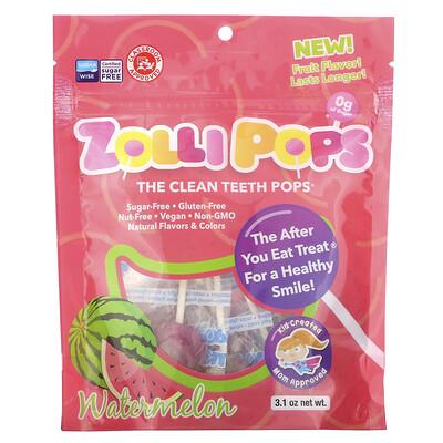 Zollipops The Clean Teeth Pops, Watermelon, 3.1 oz