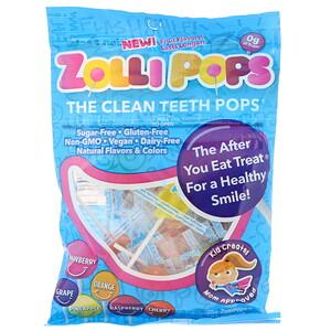 Zollipops, The Clean Teeth Pops, Strawberry, Orange, Raspberry, Cherry, Grape, Pineapple, 25+ ZolliPops, 5.2 oz отзывы