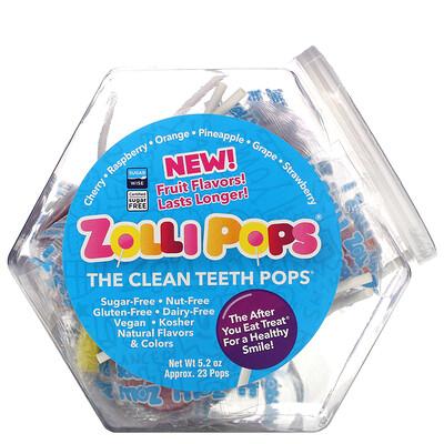 Zollipops The Clean Teeth Pops, Assorted, 23 Pops, 5.2 oz