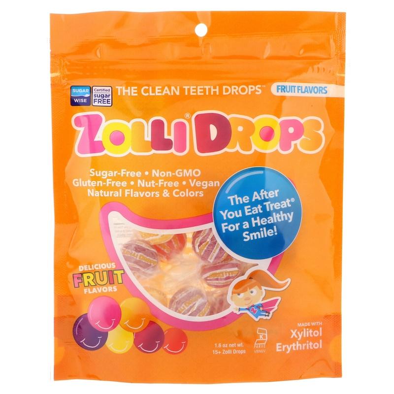 Zollipops, Zolli Drops,清潔牙齒滴露,水果口味,15 + Zolli Drop,1.6盎司