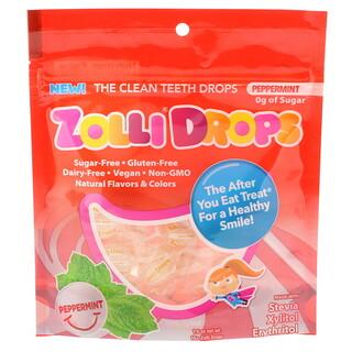 Zollipops , ゾリドロップス、クリーンティースドロップス、ペパーミント、15個以上のゾリドロップス、1.6 oz