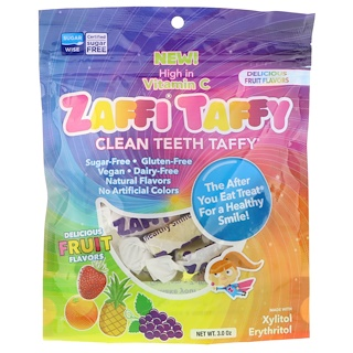 Zollipops , Zaffi Taffy, Clean Teeth Taffy, Delicious Fruit Flavors, 3.0 oz